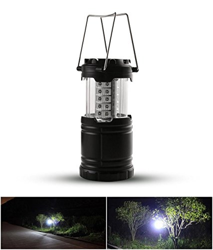 1 Pcs Primo Popular 60 Lumen LED Nightlight Umbrella Party Portable Lamp Decoration Color Black