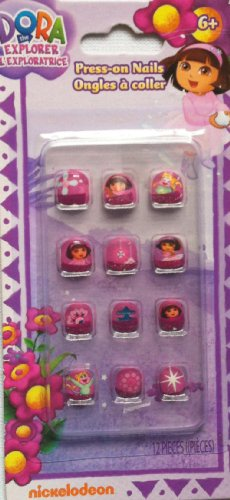 Dora the Explorer Press-on Nails - 12 Pieces By Nickelodeon