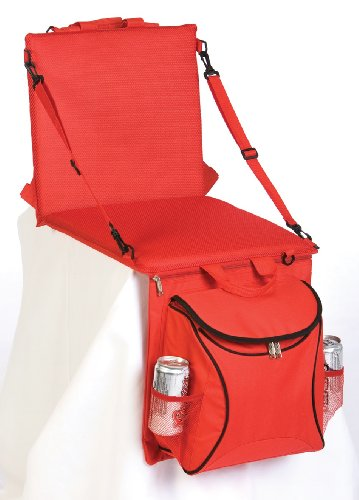 picnic-plus-portable-stadium-seat-with-cooler-and-shoulder-straps-red