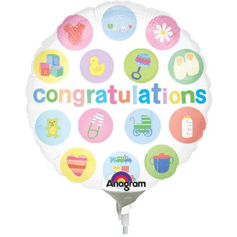9 Inch Congrats Baby Mini Balloon front-1035653