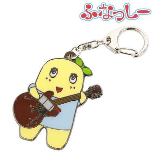 船橋市 非公認 ご当地キャラ ふなっしー グッズ メタル キーホルダー (ギター)