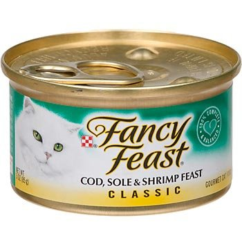 Fancy Feast Cod, Sole And Shrimp Feast Gourmet Cat Food(24-3Oz.Cans)
