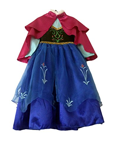 American Vogue Princess FROZEN ANNA Costume Dress with Cloak (4T) (Disney Anna Frozen Costume)