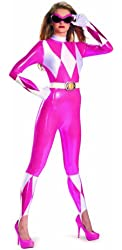 Disguise Sabans Mighty Morphin Power Rangers Pink Ranger Sassy Bodysuit Costume