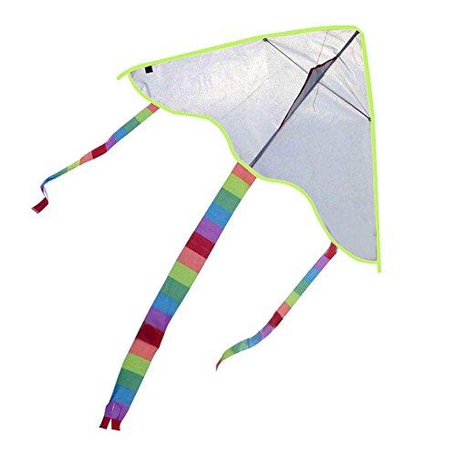 UEB DIY凧 カイト ペインティング 微風で揚がる 自作で図案を描ける アウトドア おもちゃ サイズ95x48x120cm 凧系なし ホワイト
