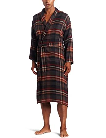 Majestic International Men's Shawl Robe, Russet, Small/Medium