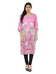 Adhaans Pink Printed Women's Kurti