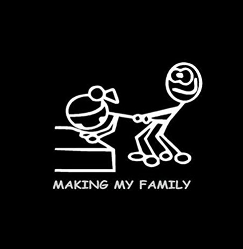 1-Pc Overwhelming Modern Funny Making My Family Car Stickers Window Vinyl Bumper Graphic Laptop Decor Size 5