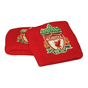 2 X Official Crest Liverpool Fc Sweatbands Wrist by Liverpool FC (Official Merchandise)
