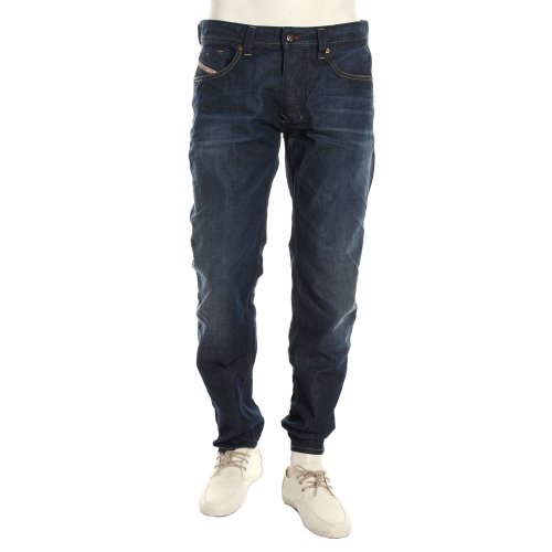Diesel Mens Krooley 802D Regular Slim Carrot Jeans - Denim Wash 802D - 28 R