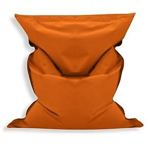 sitzsack sitzsack outdoor big bag bodenkissen sitzkissen kissen 200x140cm orange mit. Black Bedroom Furniture Sets. Home Design Ideas