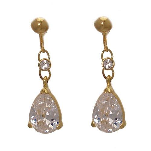 Dorsey Gold Crystal Clip On earrings
