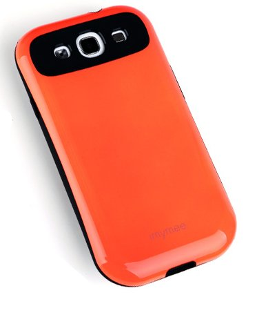 S3 Case, Double Layered Soft Cover, For Protect Samsung Galaxy S3 (At&T, Verizon, Sprint, T-Mobile) - Retail Packaging (Orange)