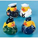 One Dozen (12) Armed Forces Rubber Duck Party Favors
