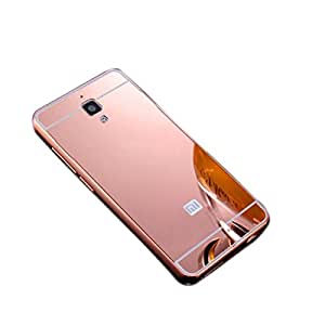Novo Style Metal Bmper Frame Case with Acrylic Mirror Back Cover For Xiaomi Redmi Mi4 - Pink