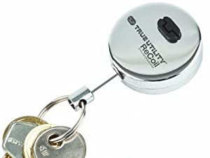 True Utility TU35 ReCoil Retractable Key Ring With Quick Release Clips and Belt Clip at Sears.com