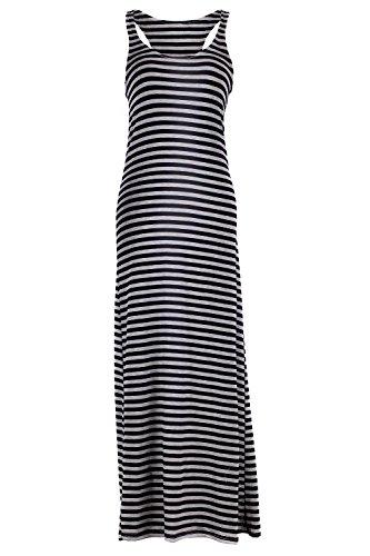 G2 Chic Women'S Striped Summer Maxi Dress(Drs-Max,Blka2-Xl)