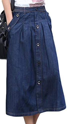 PSEZY Women Charm Lady Casual Denim Skirts A-line Jean Skirt