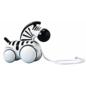 PlanToys Pull-Along Zebra