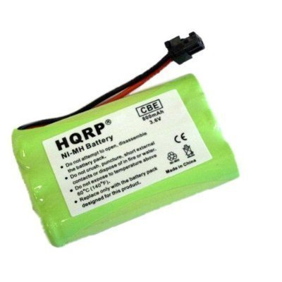 HQRP 800mAh Rechargeable Battery for Uniden BT-446 / BT-1004 ; Energizer ER-P153 Replacement image