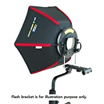 "Speedbox Diffuser-40 - Professional 17"" (17"" x 15"") Rigid Hexagonal Softbox for Canon Speedlite, Nikon Speedlight, or Pentax, Olympus, Sigma Flashes"
