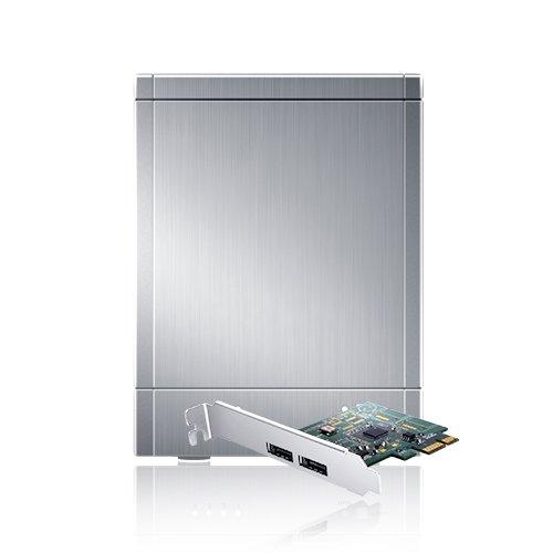 Sans Digital TR4M+ TowerRAID- 4 Bay eSATA RAID 0/1/10/5/JBOD Performance Tower with 6G PCIe Card (Silver)