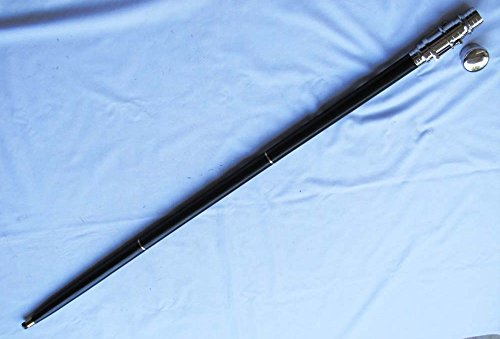 Nautical Wooden Walking Stick W/ Brass Telescope Handle Collectible 38'' long Wood Cane