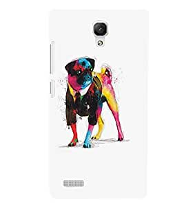 XIAOMI REDMINOTE GENTEL PUG Designer Back Cover Case By PRINTSWAG