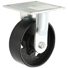 E.R. Wagner Plate Caster, Rigid, Cast Iron Wheel