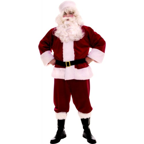 Plush Santa Suit Costume - Large - Chest Size 44-46