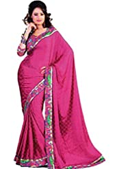 Maroon Red Fancy Saree