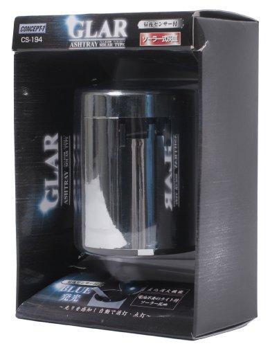 ワカジ(WAKAJI) CONCEPT-1 GLAR ソ-ラー式光る灰皿 <昼夜センサー付き> CS-194