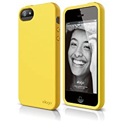 elago S5 Flex Case for iPhone 5 + HD Professional Extreme Clear film included - Full Retail Packaging - Sport Yellow