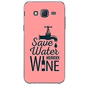 Skin4gadgets Awesome Wine & Dine Quotes, Pattern 2, Color - Dark Cyan Phone Skin for SAMSUNG GALAXY J2