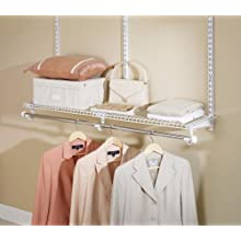 Rubbermaid 3H92 Configurations 4-Foot Expandable Clothes-Hanging Kit, White