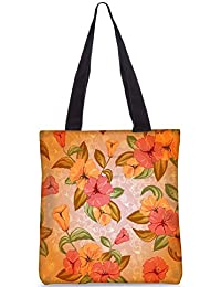 Snoogg Vector Colorful Floral Pattern Fashion Printed Shopping Shoulder Lunch Tote Bag For Women