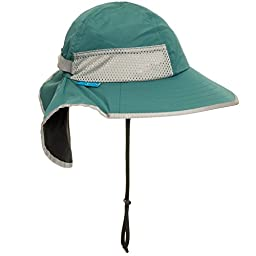 Sunday Afternoon Adjustable Kids Sun Hat w/ Strap (Seagrass & Black, 2-5 years)