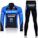 GIANT Cycling Jersey Set Long Sleeve Jersey Tenacious Life/perspiration Breathable?