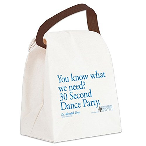 CafePress Canvas Lunch Bag - 30 Second Dance Party Quote Canvas Lunch Bag - Khaki