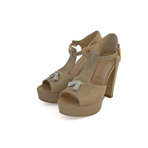 Scarpe sandali, decolte' Chiara Luciani con chiusura con cinturino beige, taglia: 38
