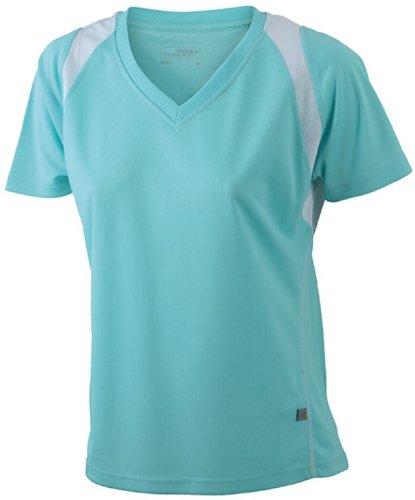 James & Nicholson JN396 Ladies Running T Shirt mint/white Size S