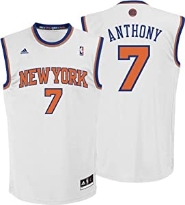 Carmelo Anthony White New York Knicks #7 NBA adidas Replica Basketball Jersey by adidas