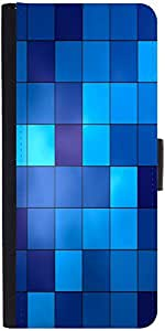 Snoogg Digital Squaresdesigner Protective Flip Case Cover For Sony Xperia Z1