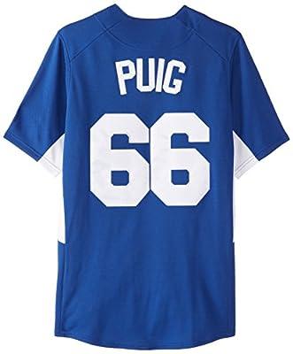 MLB Los Angeles Dodgers Men's Yasiel Puig 66 Fever Player Jersey