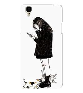EPICCASE Lonely girl Mobile Back Case Cover For Oppo F1 (Designer Case)