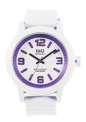 シチズン Q&Q メンズ レディース ユニセックス 腕時計 カラーウォッチ 10気圧防水 VR10J012Y ホワイトパープル 【並行輸入品】