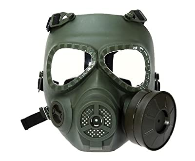Gas Mask Model: Anti Fog Turbo Fan System Full Face Protector Mask for Airsoft Wargame Paintball Outdoor Activities-Army green by Nicoshope :: Gas Mask Bag :: Army Gas Masks :: Best Gas Mask