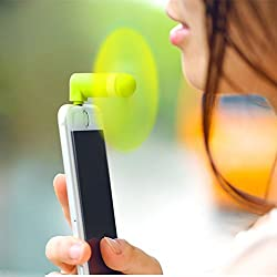 Personal USB Micro Cell Phone Fan Mini Cell Phones Fan Detachable Design Portable Fan Summer Cool Fan Port Fan For iPhone Pink Yellow-green Android Phone-iPhone