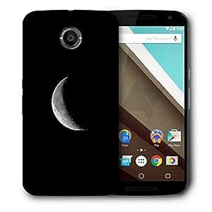 Snoogg Half Moon Designer Protective Phone Back Case Cover For Motorola Nexus 6