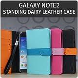 [docomo ギャラクシー GALAXY Note II SC-02E 対応 ケース カバー]istyle Standing dairy leather スタンディングダイアリーレザーケース 手帳型 全3色【ミント】
